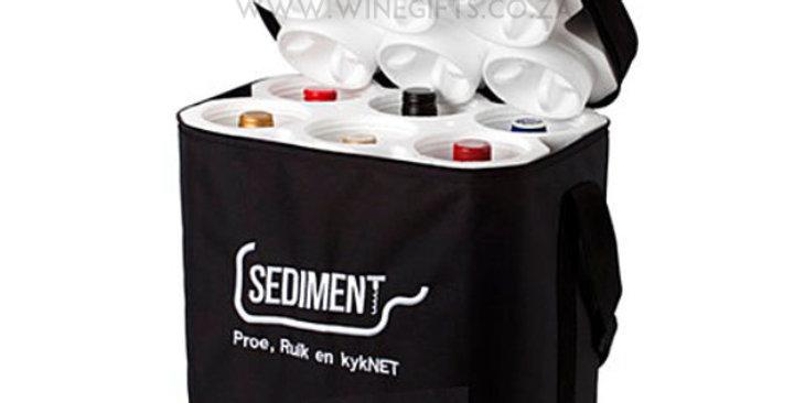Six Bottle Styrene Protective Wine Bag