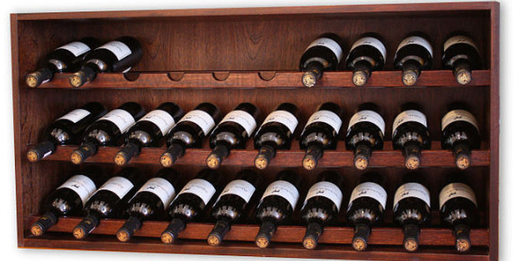 30 Bottle Wide Mahogany Individual Cube