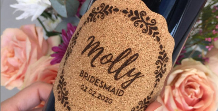 Personalized Cork Label - 6 Labels