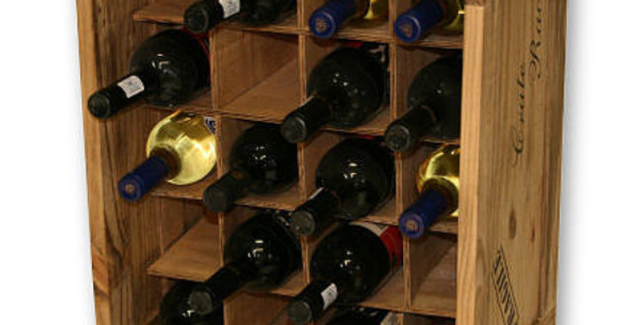 20 Bottle Individual Compartment Wine Crate