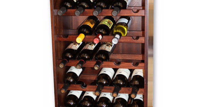 35 Bottle Tall Mahogany Individual Cube