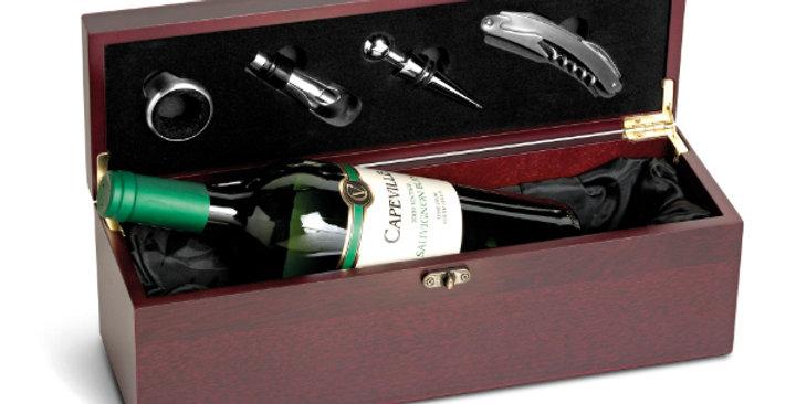 Dark wood wine box