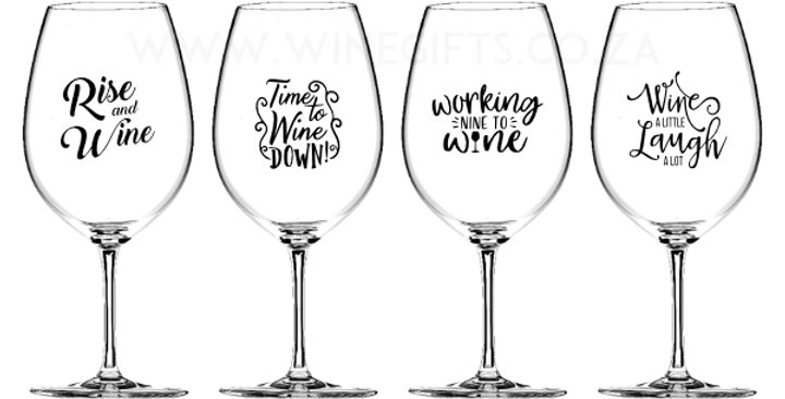 Fun Monogram Glasses - Set of 4