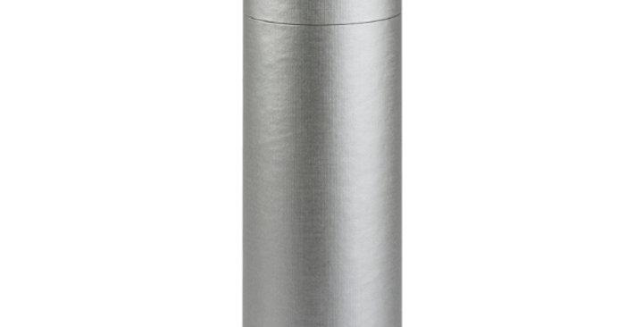 One Bottle 750ml Cardboard Wine Tube - Silver