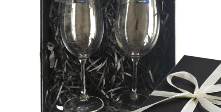 Engraved White Wine Glasses - Set of 2