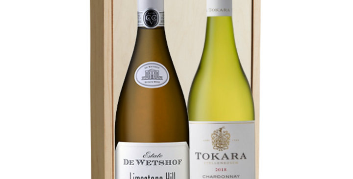 Chardonnay Duo and Custom Engraved Box