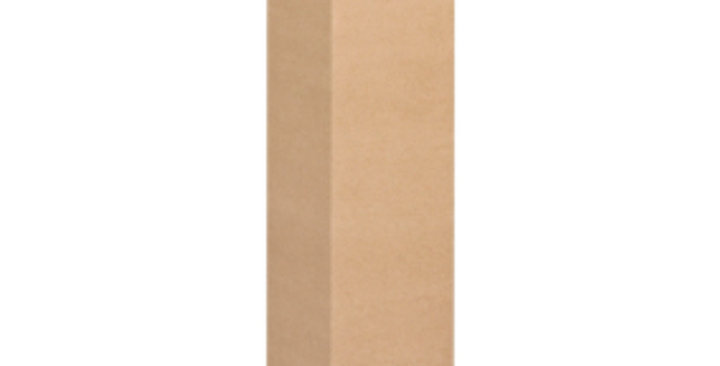 Single Bottle 750ml Cardboard Wine Box without Window - Kraft