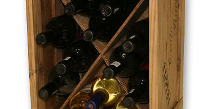 12 Bottle Triangle Compartment Wine Crate