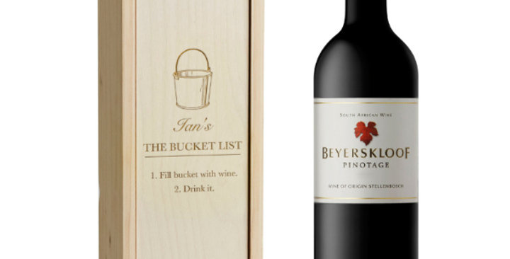 Beyerskloof Pinotage with Engraved Box
