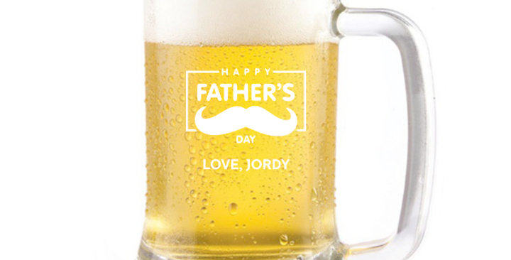 Engraved 500ml Beer Mug