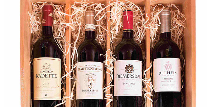 Deluxe Four Bottle Gift with Personalized Engraving