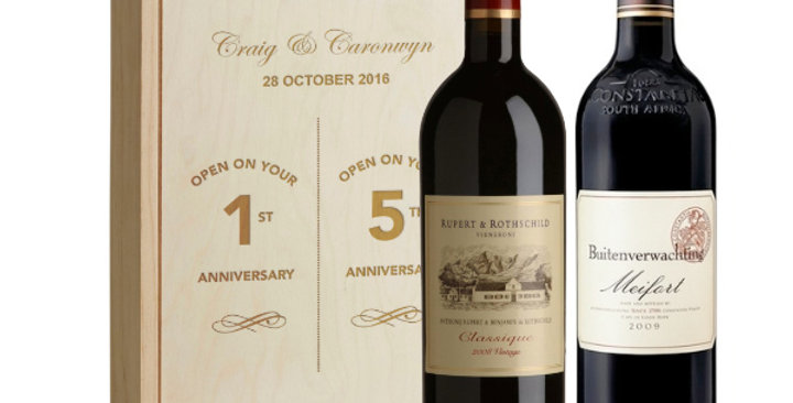 Duo Anniversary Wines with Engraved Box