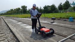 고속철도 도상 콘크리트 침하 지하매설 탐사(GPR)