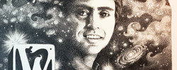 Carl Sagan Portrait by Kat Wedmore
