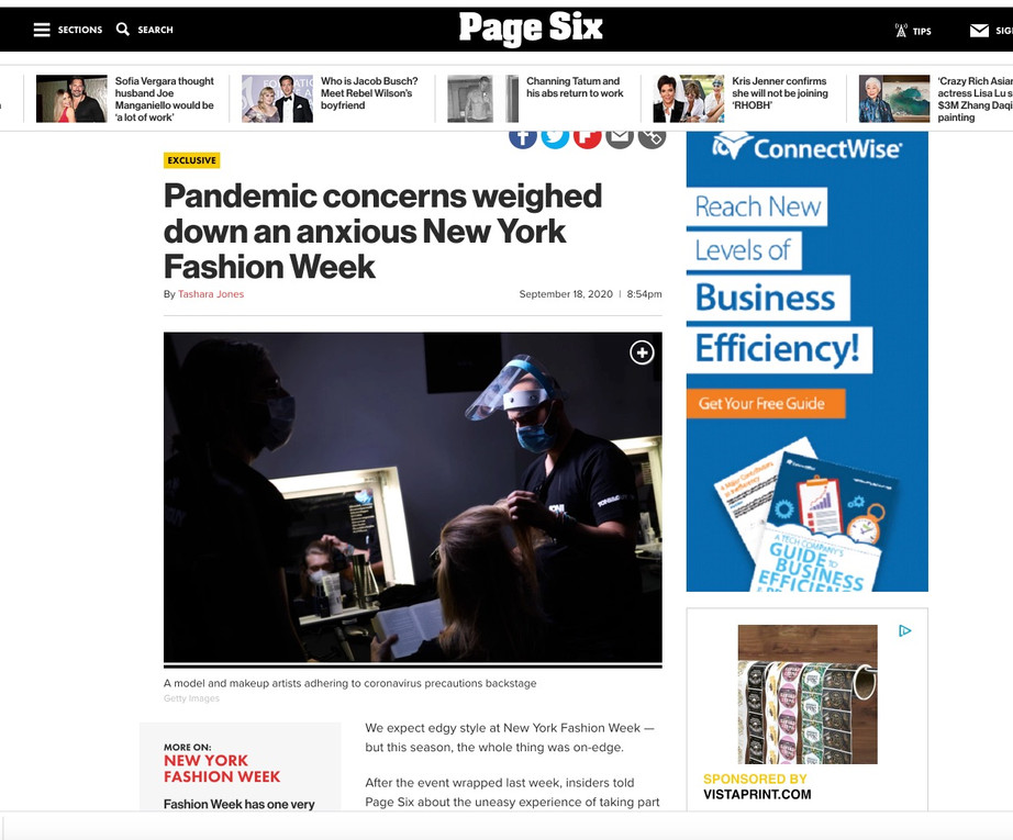 Page Six Article - NYFW hiTechMODA Season 4