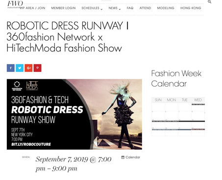 FWO - NYFW hiTechMODA Season 2 - Robotic Dresses