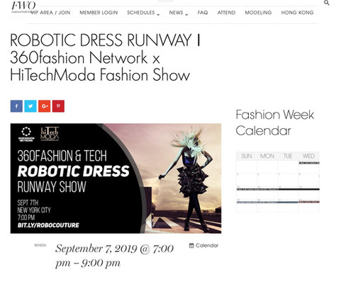 FWO - NYFW hiTechMODA Season 2 - Robotic Dresses