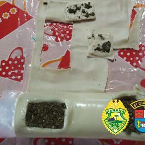 Apreendida massa de pastel com maconha que seria entregue na cadeia de Cianorte