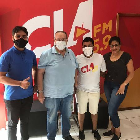 Sabatinado de hoje no programa Revista na Cia FM foi o deputado Jonas Guimarães
