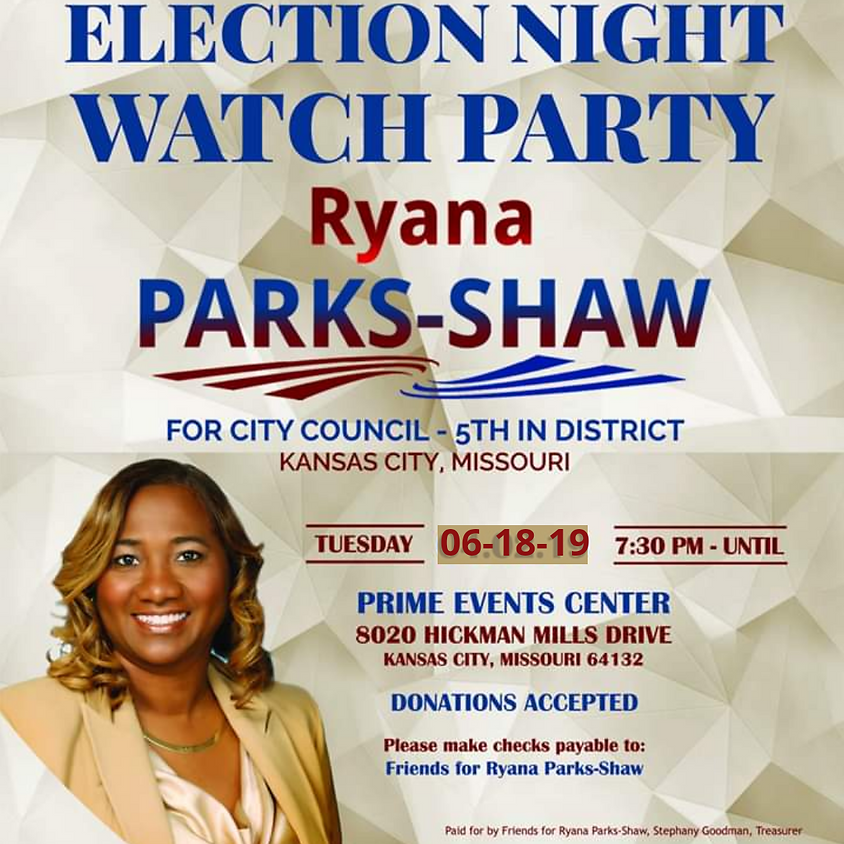 Ryana Parks-Shaw's Election Night Watch Party