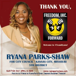 Ryana Parks-Shaw Receives an Endorsement from Freedom, Incorporated