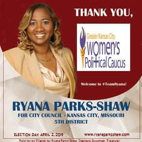 Ryana Parks-Shaw Receives an Endorsement from the Greater Kansas City Women's Political Caucus