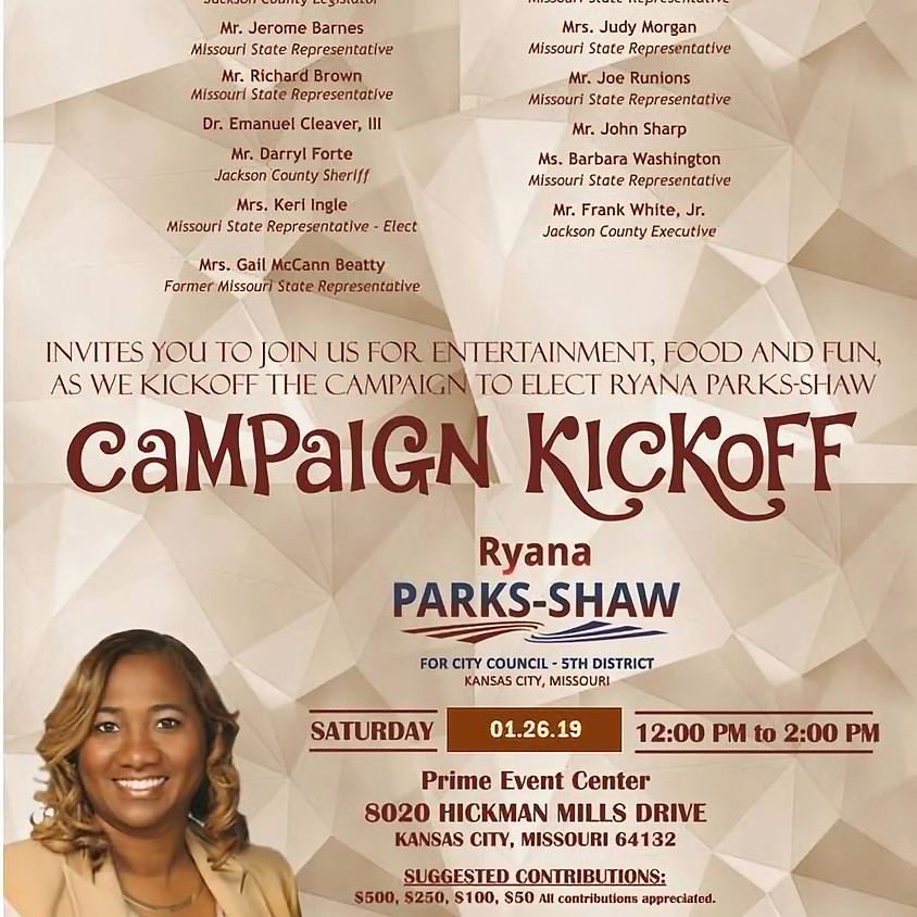 Campaign Kickoff and Fundraiser