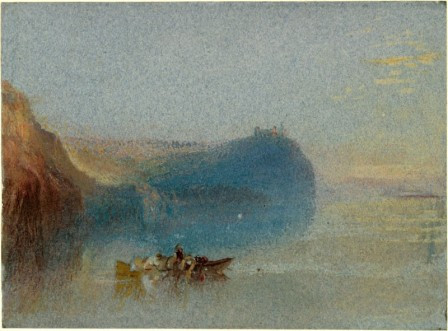 Joseph Mallord William Turner, Seine in the Loire, aquarelle sur papier bleu, Oxford, Ashmolean Museum, inv. WA.RS.STD.003 © Ashmolean Museum, University of Oxford
