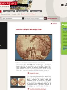 Dans l'atelier d'Hubert Robert - Mémoire Vive Patrimoine numérisé de Besançon
