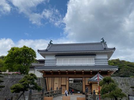 鶴丸城御楼門が完成してました❗️