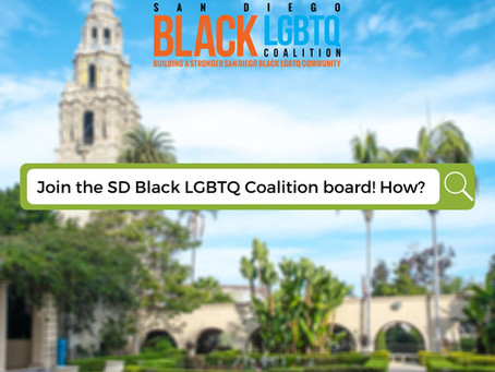 Apply to join the San Diego Black LGBTQ Coalition Now!