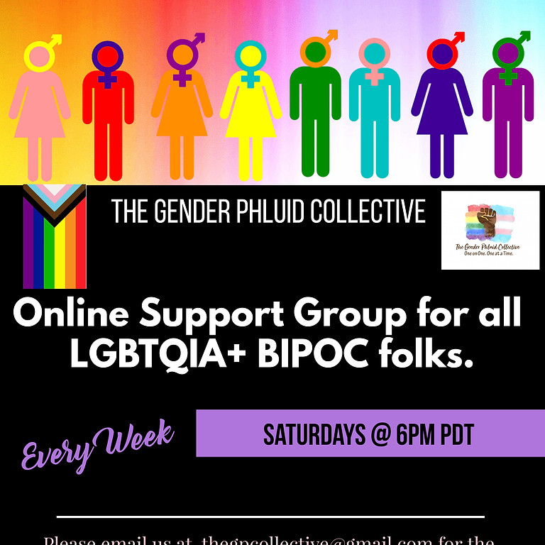 Online Support Group for all LGBTQIA+ BIPOC folks