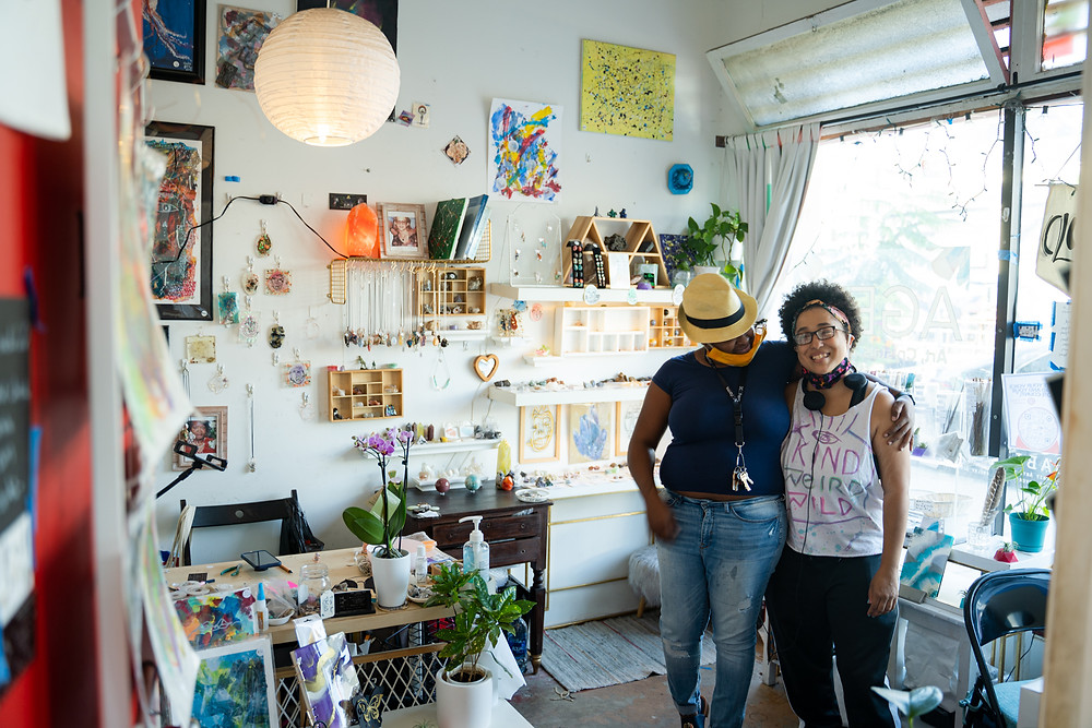 picture of Anah and Gabi, the wonderful owners of AGEV Co in Barrio Logan, San Diego.