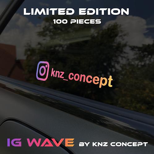 """Autocollant Instagram """"IG Wave"""" Edition limitée"""