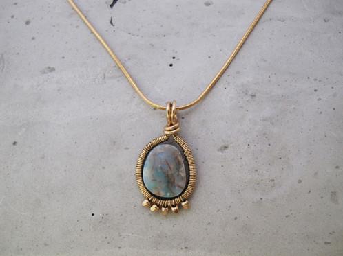 Opal heart pendant necklace gold bespoke unique handmade opal heart pendant necklace gold aloadofball Gallery