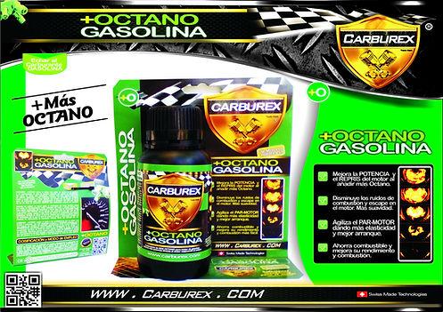 CARBUREX - OCTANO POTENCIA MOTOR GASOLIN