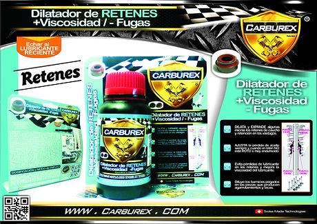 CARBUREX  - RETENES FUGAS GUIAS VALVULA.