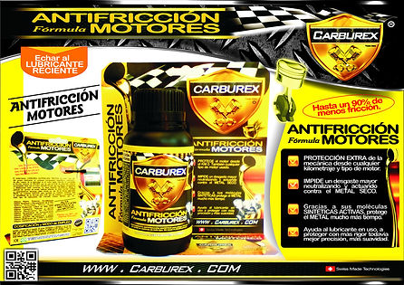 CARBUREX - ANTIFRICCION FORMULA MOTORES.