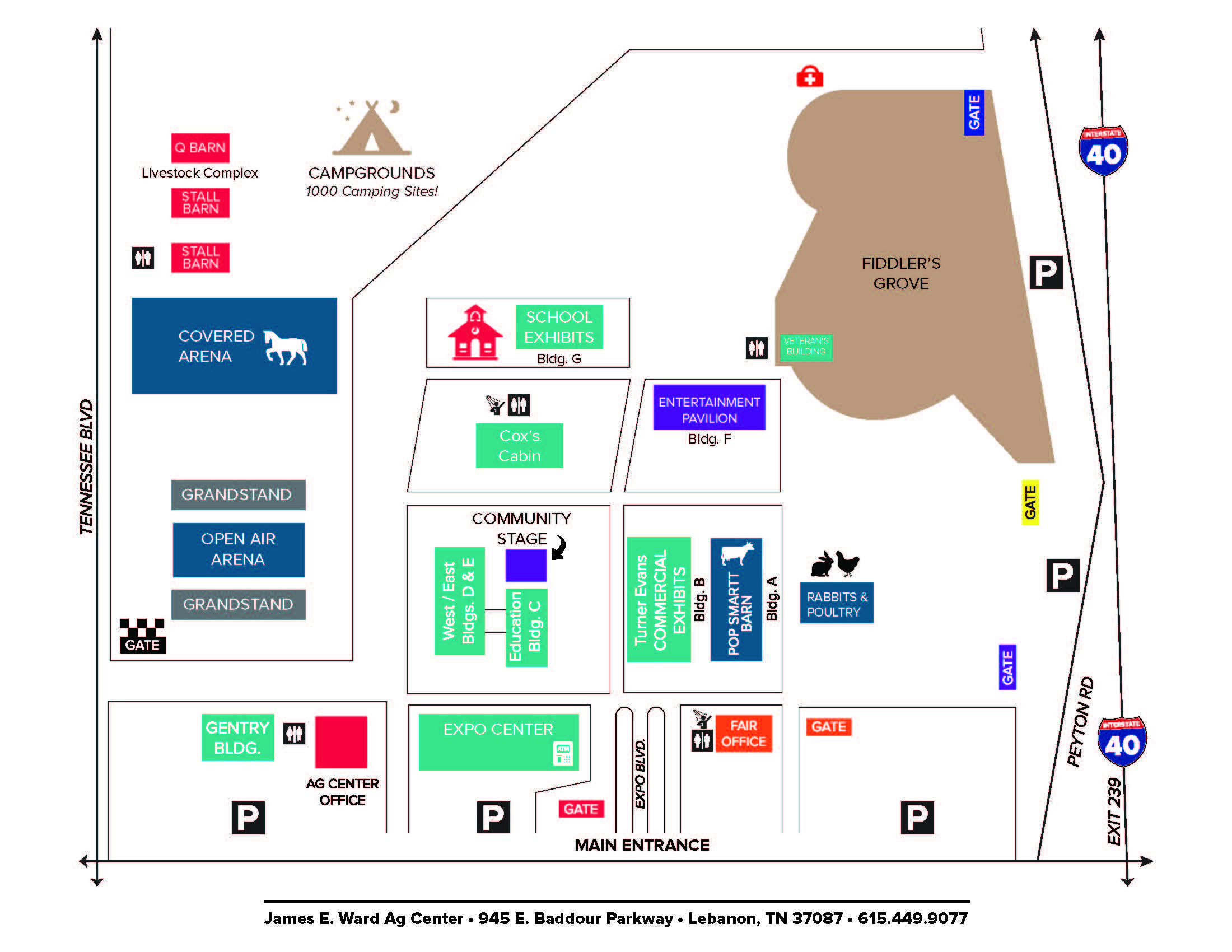 Ag grounds map