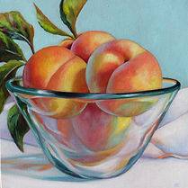 Peaches in Glass Bowl II  16x16.jpg