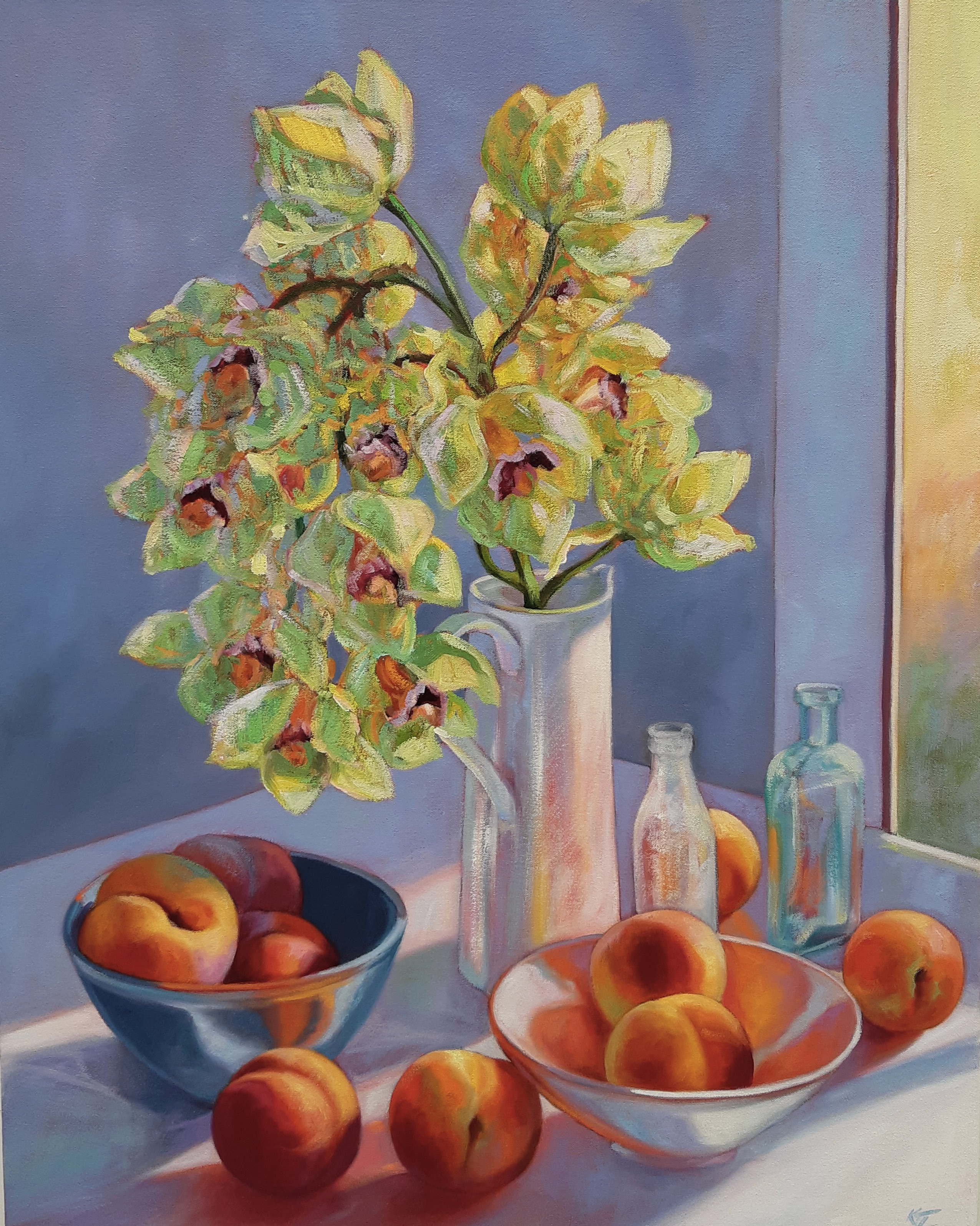 Orchids and Peaches