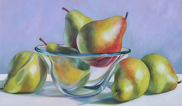 Pears in Glass Bowl.24x40jpg.jpg
