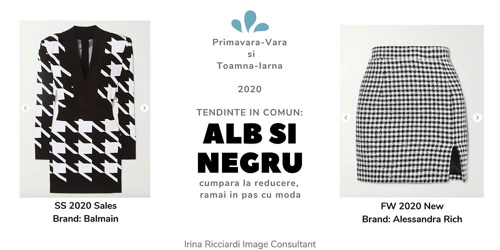 trend moda 2020 alb si negru