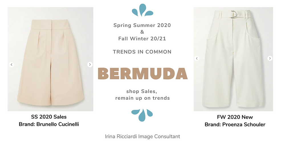 bermuda fashion trend: spring summer 20 and fall winter 21