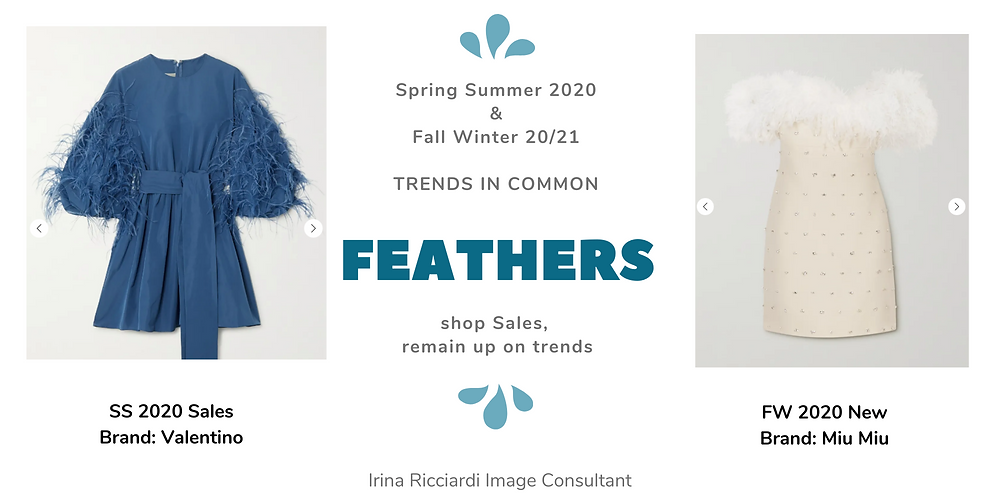 feathers fashion trend: spring summer 20 and fall winter 21