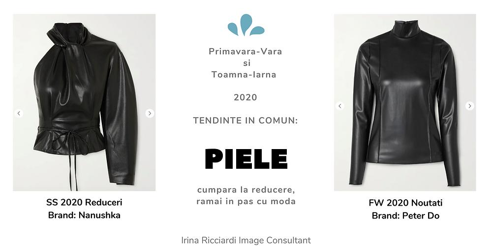 trend moda 2020 piele