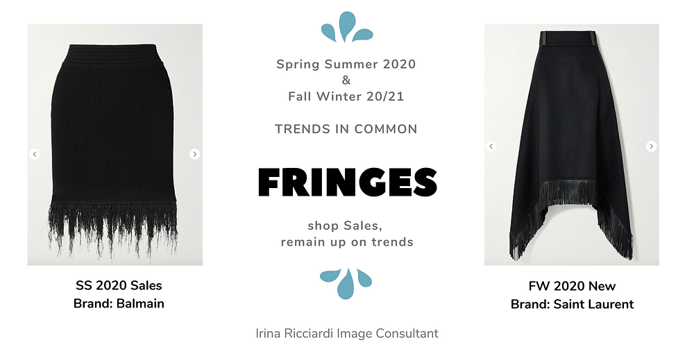 fringes fashion trend: spring summer 20 and fall winter 21