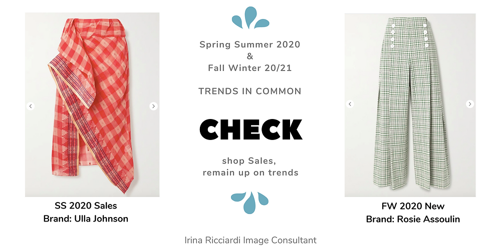 check fashion trend: spring summer 20 and fall winter 21