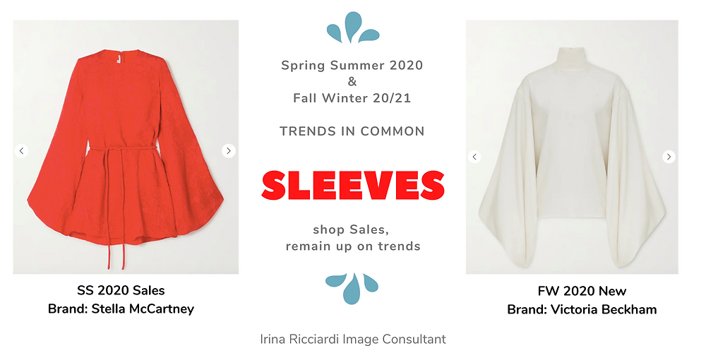 sleeves fashion trend: spring summer 20 and fall winter 21