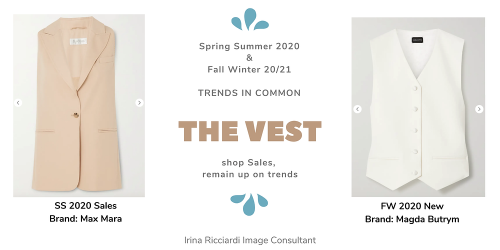 the vest fashion trend: spring summer 20 and fall winter 21
